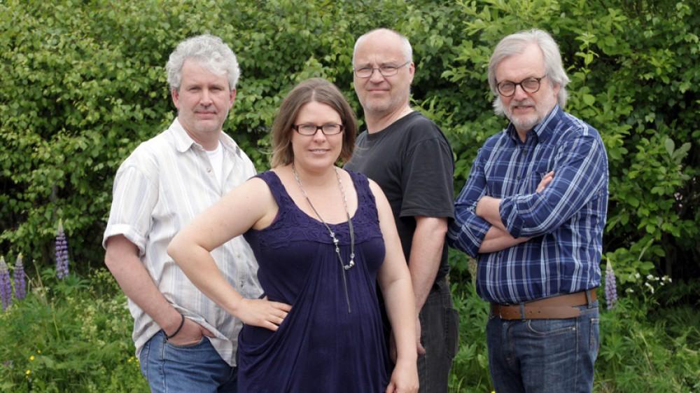 Ny redaktion: Tomas Nyberg, redigering och foto, Helena Forsberg, redaktör, Eric Salomonsson, webbansvarig och Per Eklund, reporter. FOTO: STAFFAN BJÖRKLUND