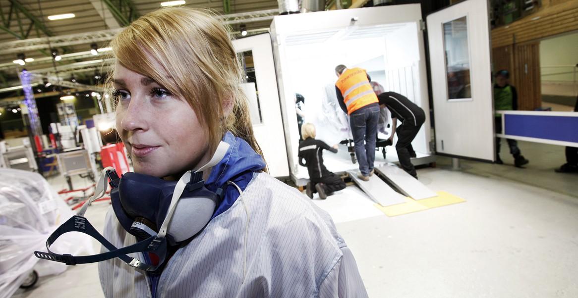 Frida Gustafsson berättar glatt om yrket och tävlingsnerverna var under kontroll.