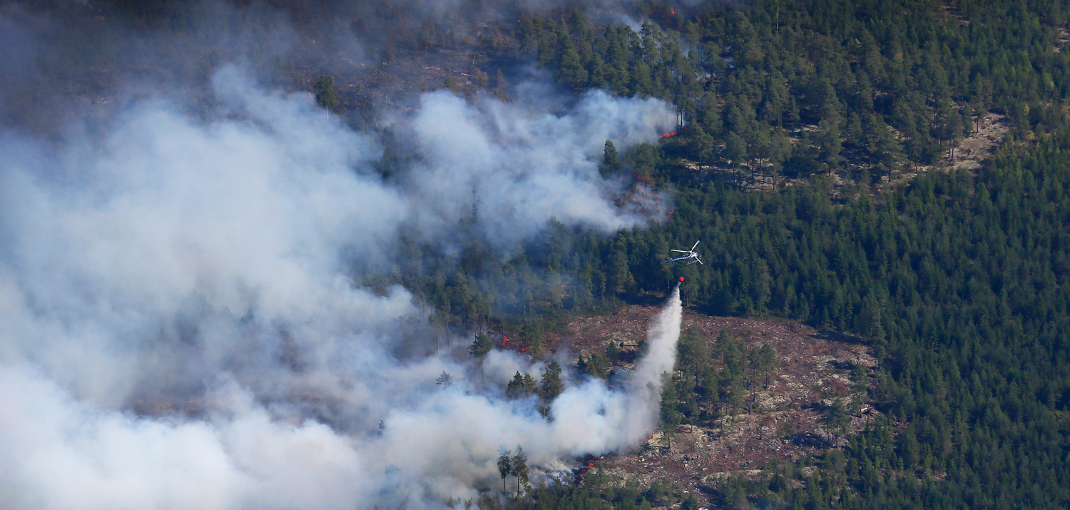 Skogsbranden i Västmanland är den största i modern tid. FOTO: KUSTBEVAKNINGEN