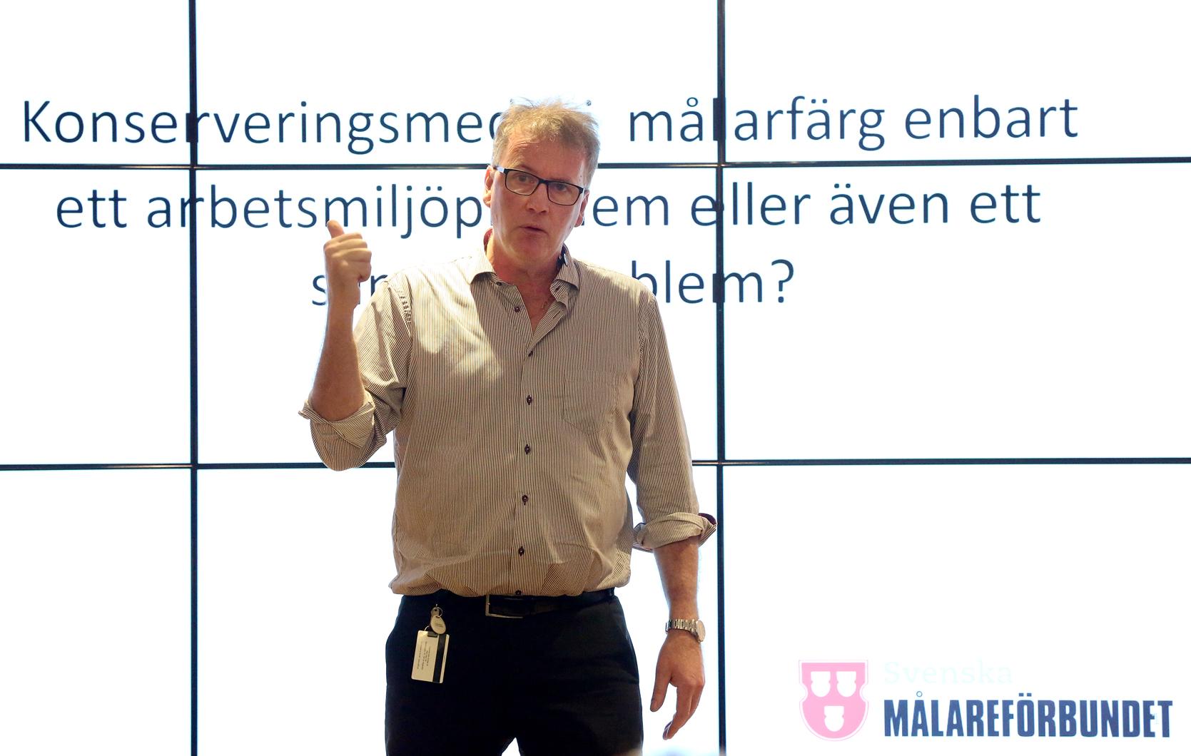 Mikael Johansson, ordförande Svenska Målareförbundet. Foto: Tomas Nyberg