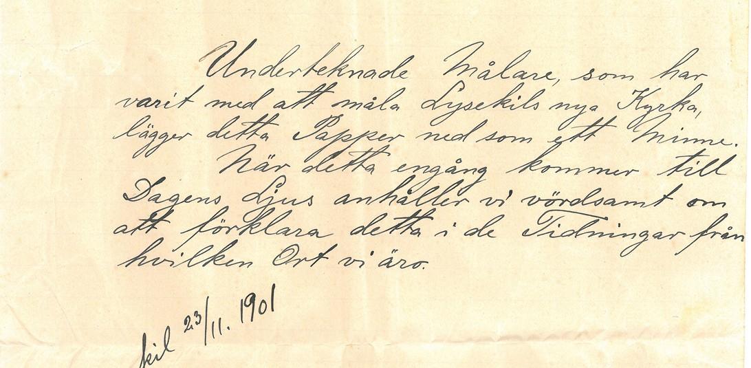 En bild på brevet.