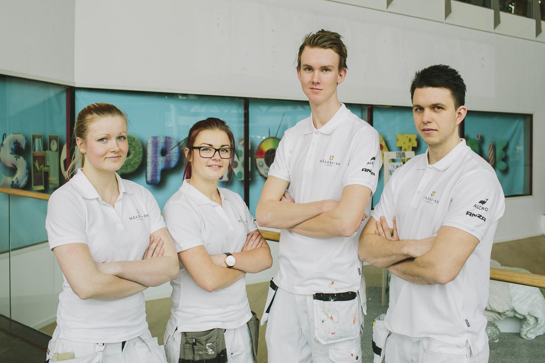 Från vänster: Malin Arkelöw, Nathalie Andersson, Dennis Arufors och Emil Eriksson är klara för SM.
