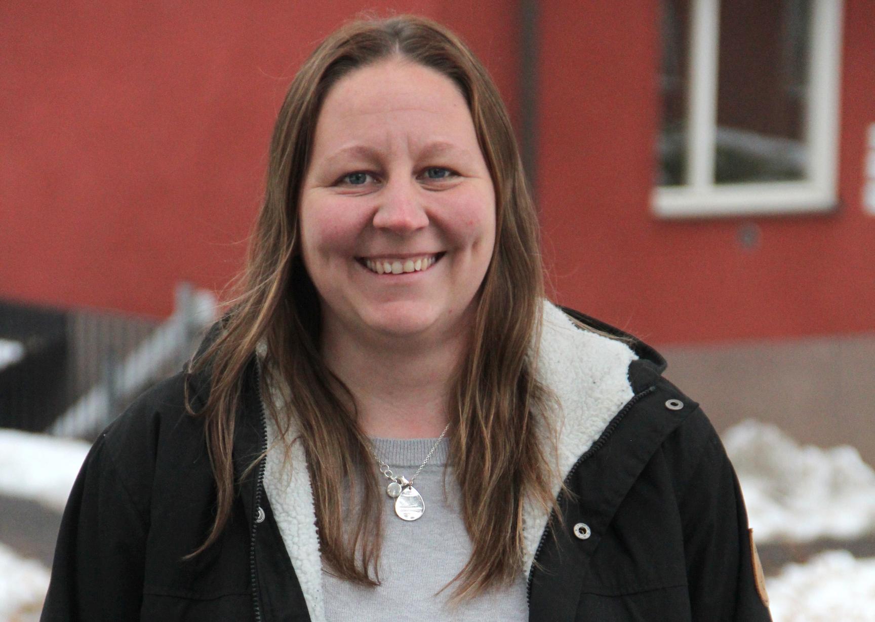 Kristina Norlin har varit med och drivit på så målarna får träna på arbetstid. Foto: Helena Forsberg