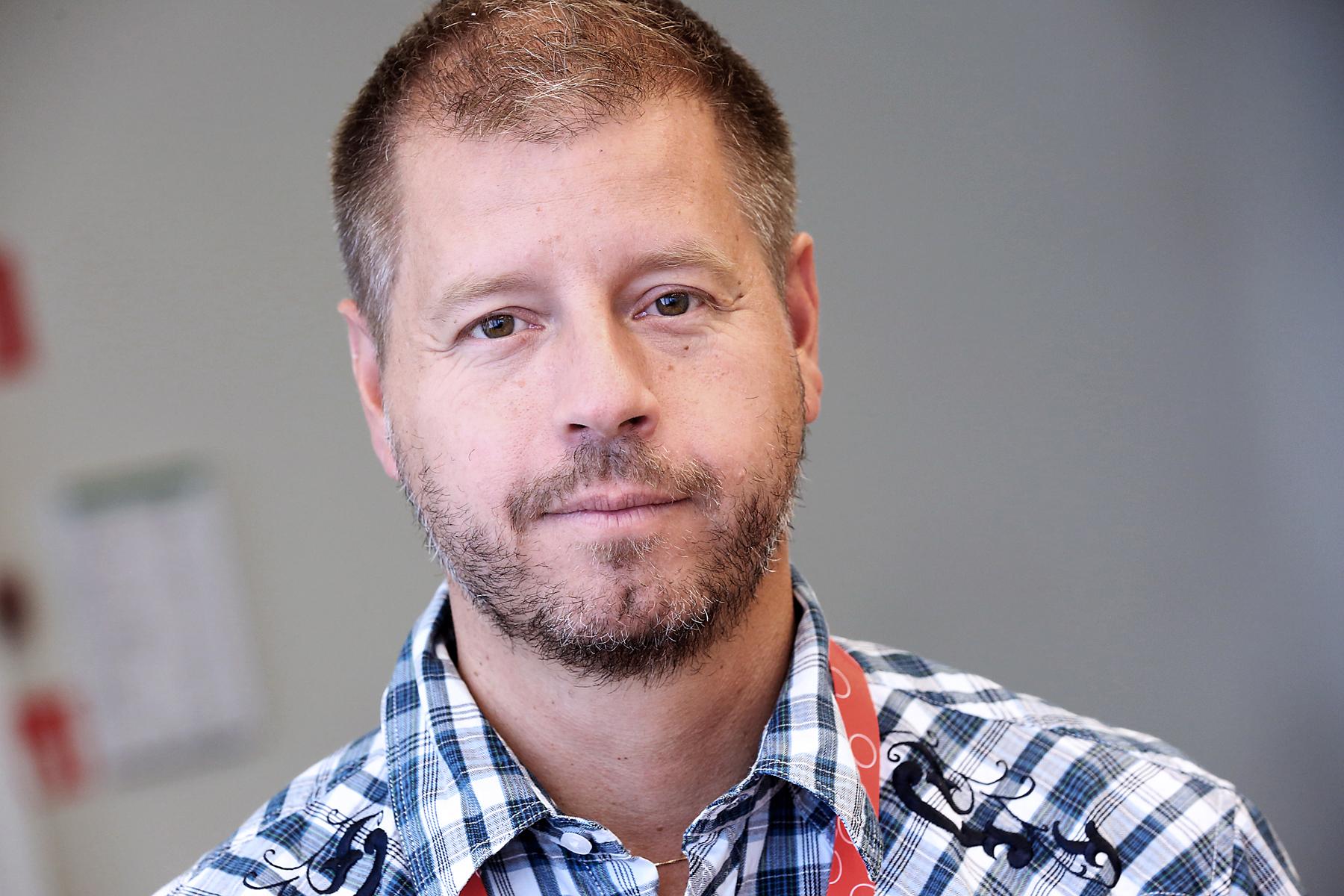 Peter Sjöstrand, förhandlingsordförande Målareförbundet. Foto: Tomas Nyberg