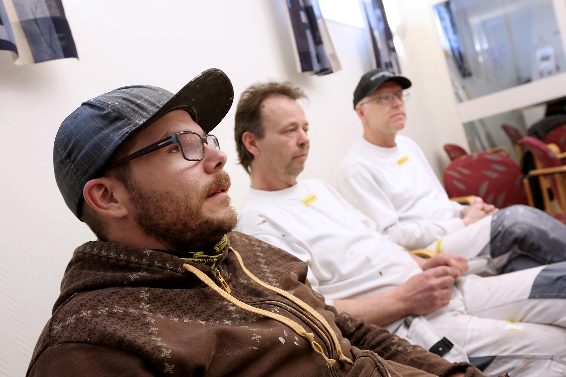 Mickael Heydeck, Tord Persson och Leif Gustafsson är redo att ta strid om arbetstiden. Foto: Tomas Nyberg