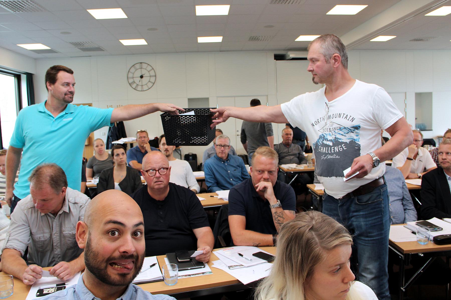 48 ledamöter röstade för att Målareförbundet ska organisera sig under ett huvudmannaskap. 27 ledamöter röstade emot. Foto: Helena Forsberg
