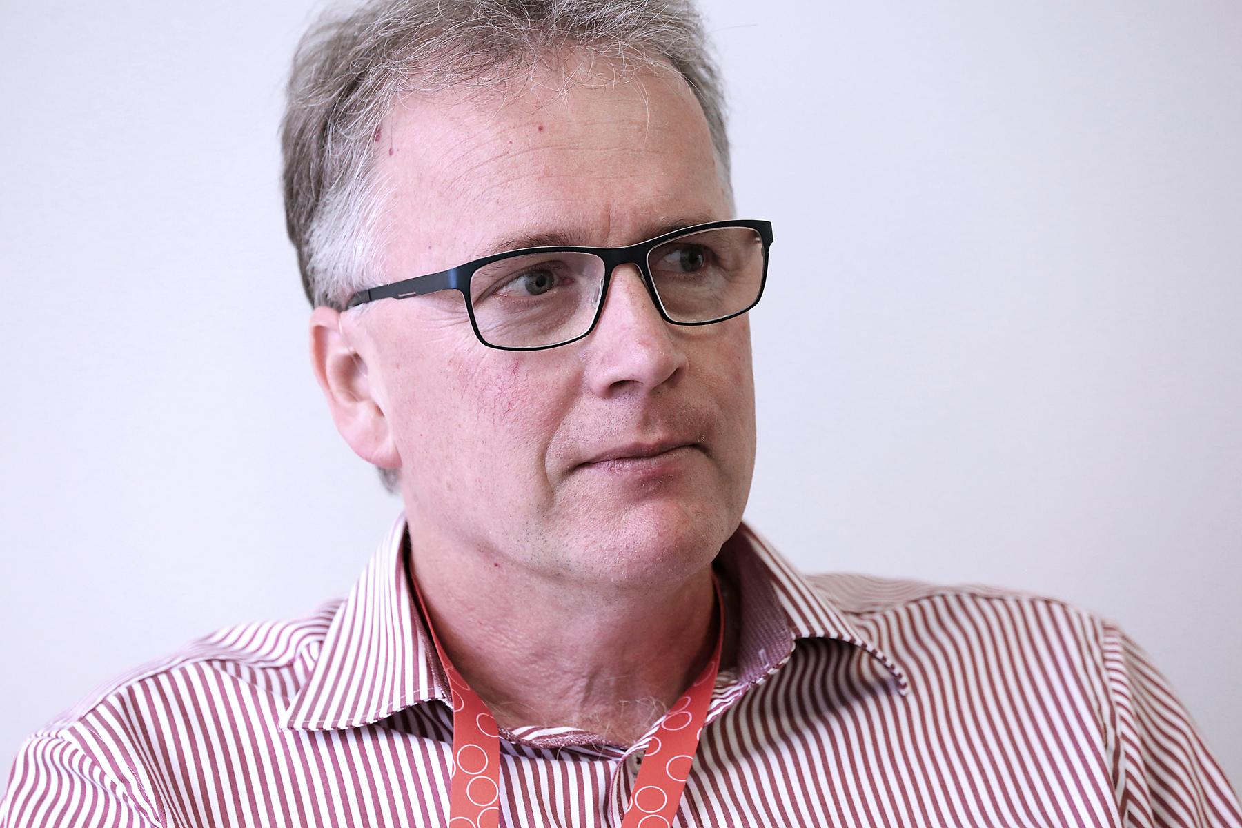 – Det är inte meningen att våra medlemmar skall straffas med lägre pension bara för att man inte orkar jobba längre, säger Mikael Johansson Foto: Tomas Nyberg/Arkiv