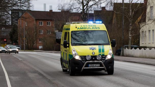 En ambulans på utryckning.