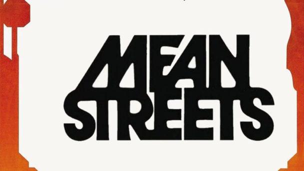 Filmtilten Mean Streets I stiliserade bokstäver