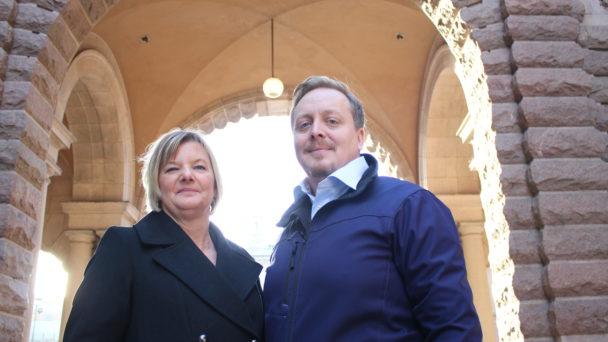 Veronica Boström och Mattias Theliander, regionala skyddsombud för Fastighets och Seko.