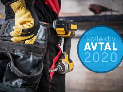 Bild i midjehöjd på en byggarbetare med verktyg i bältet.
