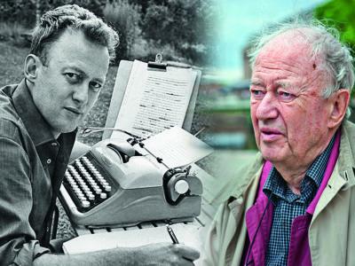 En gammal och en ny bild på Ove Allansson monterade invid varandra.