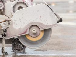 En betongsskärare