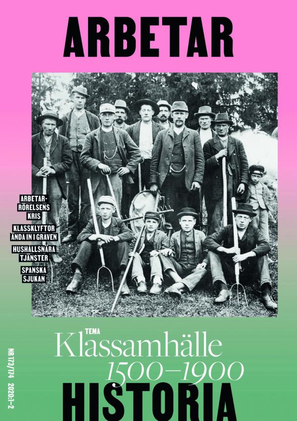Omslaget till det nya numret av tidskriften Arbetarhistoria