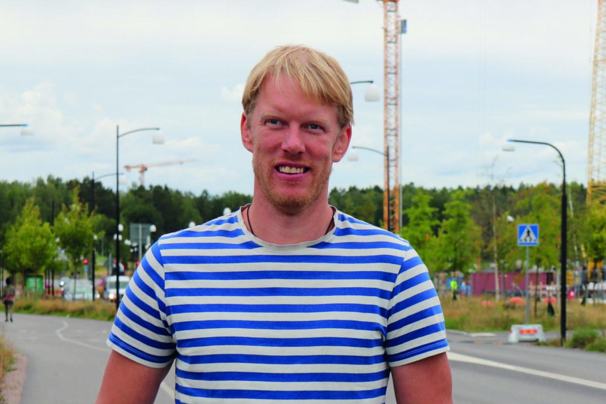 Martin Sedström utomhus