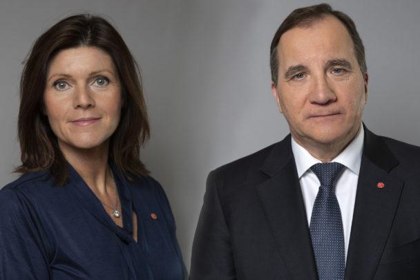 Eva Nordmark och Stefan Löfven.