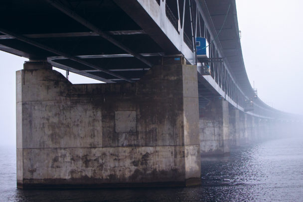 Öresundsbron nedifrån