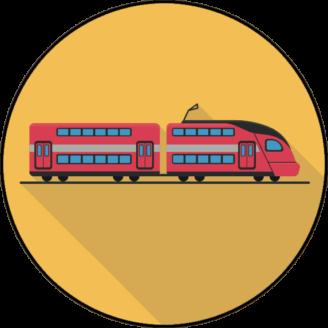 Ett tecknat tåg