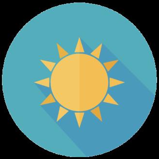 En tecknad sol