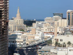 En överblicksbild på en stad
