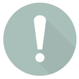 En ikon av ett utropstecken