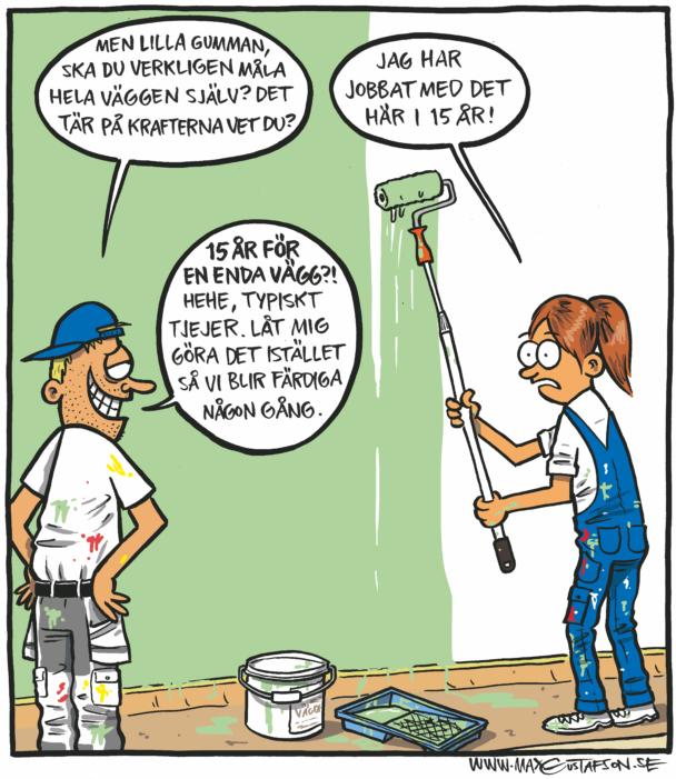 En tecknad serieruta