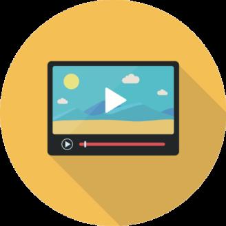 En tecknad skärm som visar en film