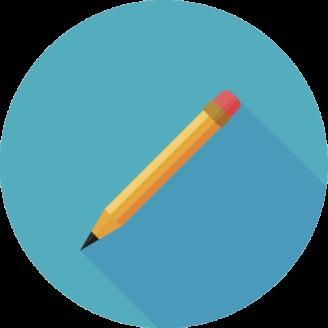En tecknad blyertspenna