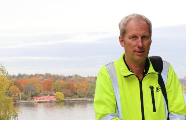 Jan Öberg utomhus