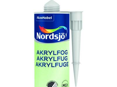 En tub med akrylfog från Nordsjö