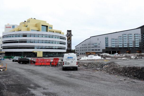 Några av byggnaderna i Kiruna